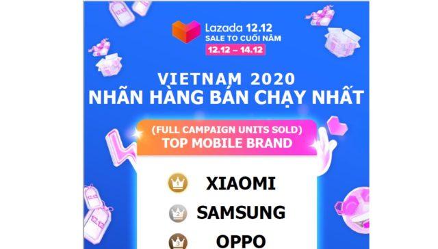 Xiaomi là thương hiệu smartphone bán chạy nhất Lazada trong ngày 12.12