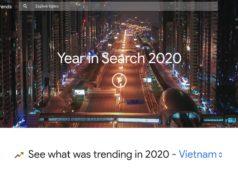 Xu hướng tìm kiếm Google của người Việt Nam trong năm 2020