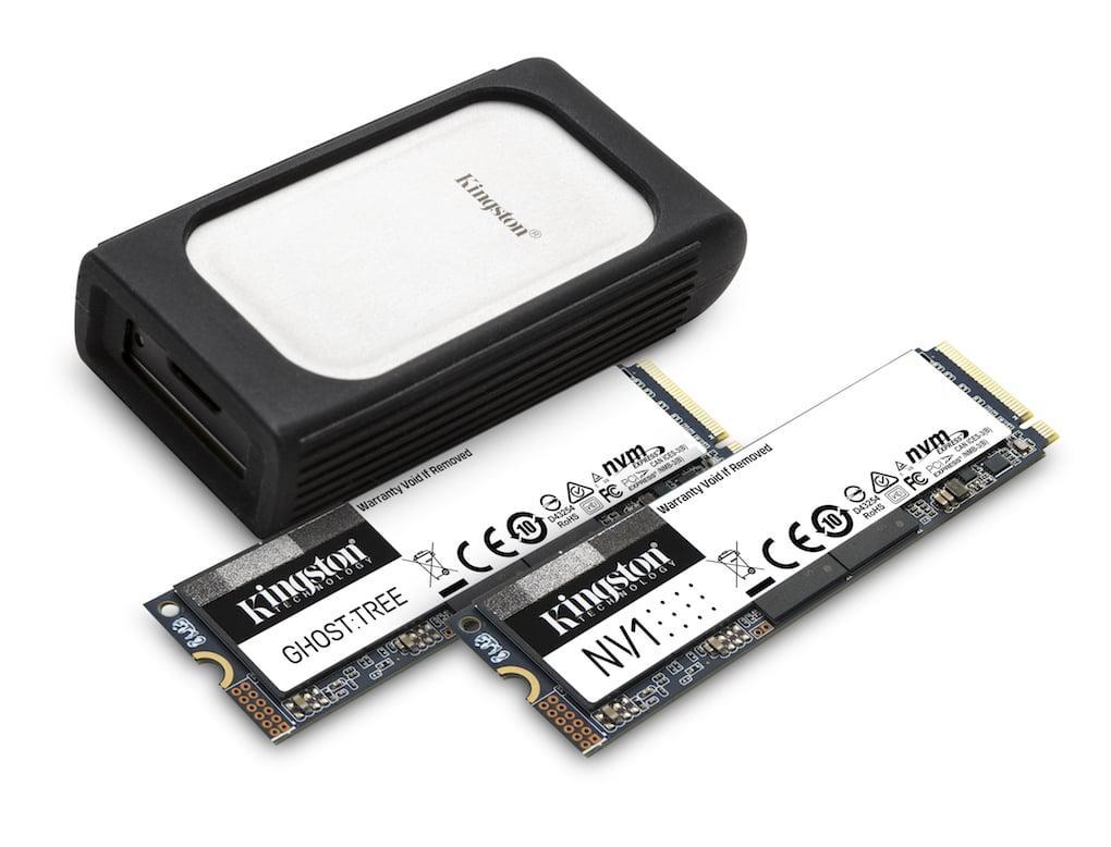 Kingston ra mắt SSD NVMe, bộ chuyển đổi lõi cùng đầu đọc