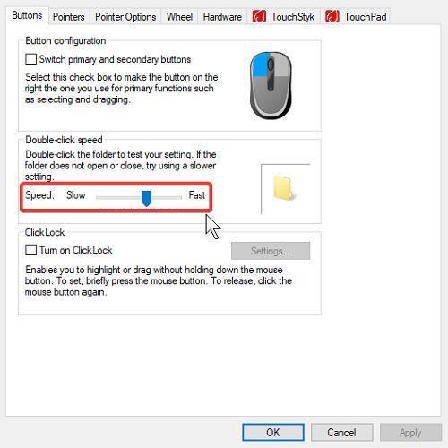 Tùy chỉnh cài đặt chuột và bàn di chuột trên Windows 10