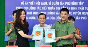 Tân Phú: Quận đầu tiên ở TP.HCM triển khai Zalo an ninh tích hợp chatbot