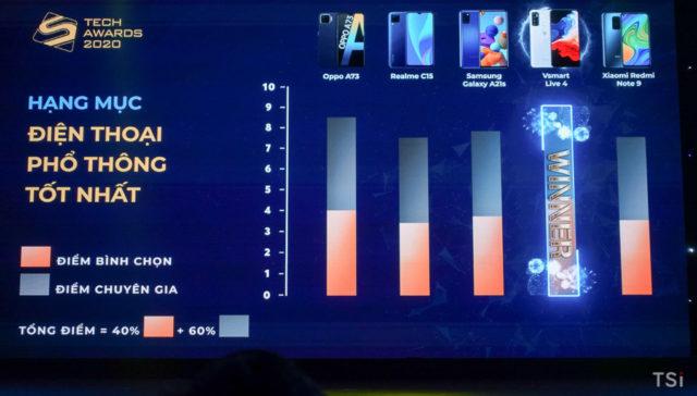 Vsmart là thương hiệu điện thoại Việt xuất sắc nhất Tech Awards 2020
