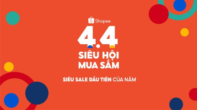 Shopee khởi động chương trình 4.4 Siêu Hội Mua Sắm