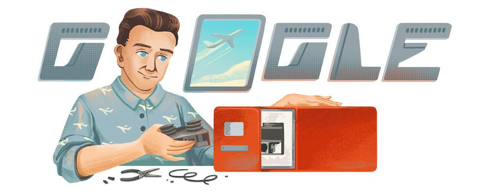 Google Doodle tôn vinh David Warren với phát minh hộp đen cho máy bay