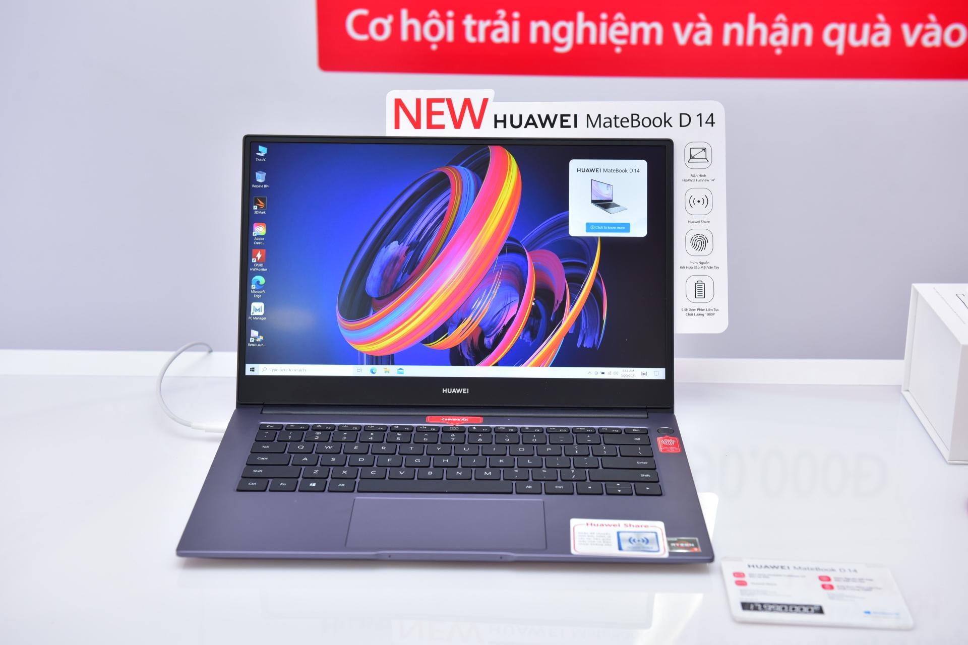 Huawei Matebook D 14 dùng AMD Radeon RX Vega 10 lên kệ hôm nay, giá 17.990.000 đồng