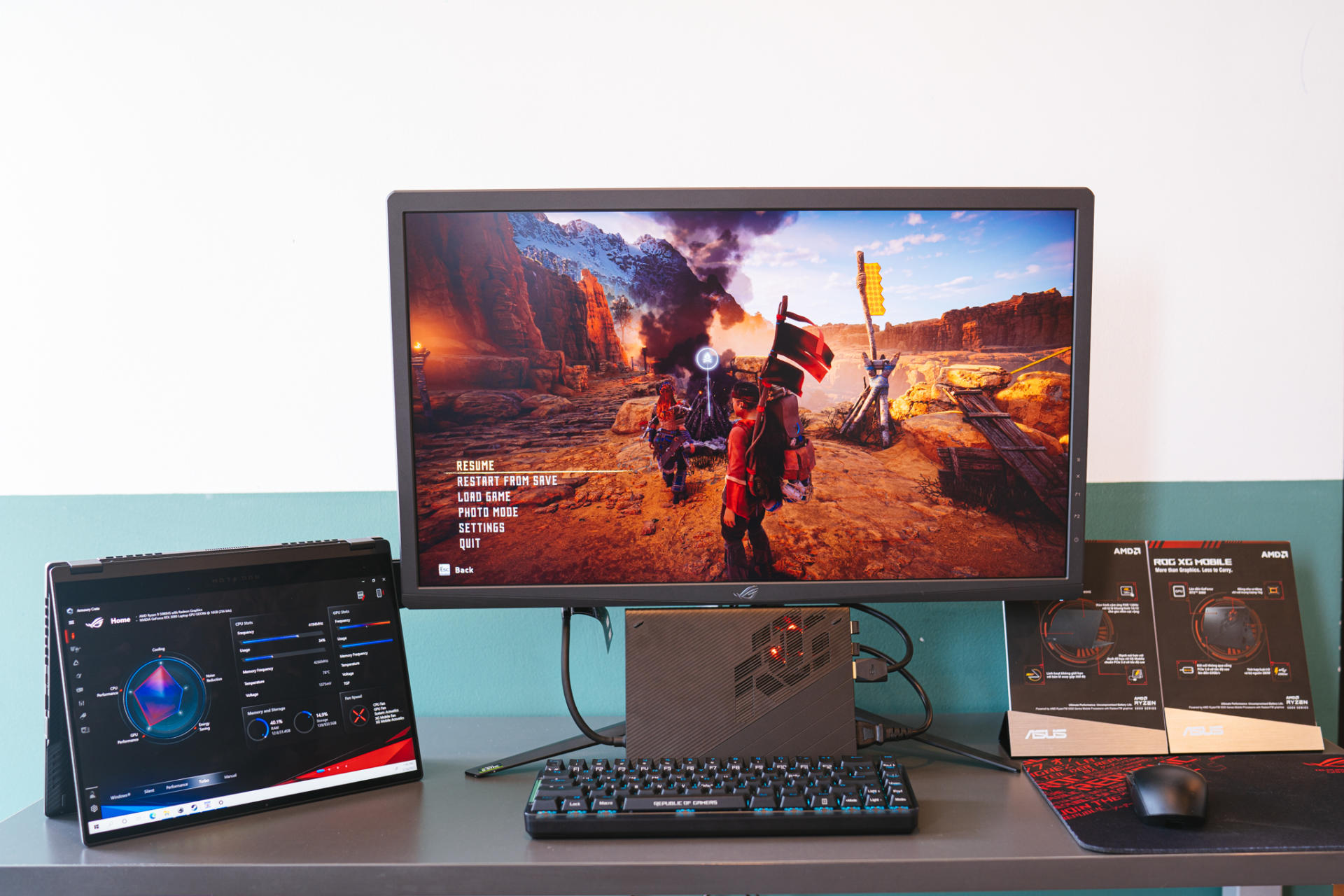 Laptop gaming xoay gập ASUS ROG Flow X13 ra mắt, nặng 1,3kg