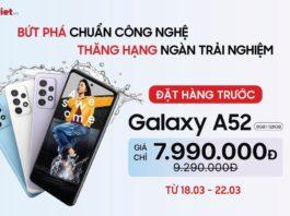 Di Động Việt mở đặt trước Galaxy A52 | A72, giá từ 7,9 triệu