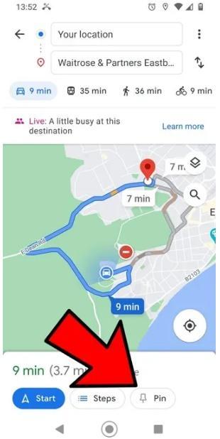 Cách ghim và tra cứu nhanh lộ trình di chuyển trên Google Maps
