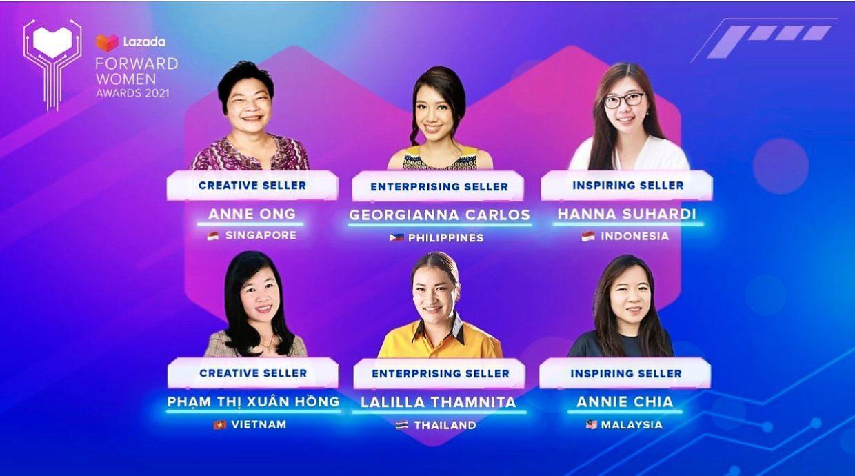 Lazada tôn vinh 6 nhà bán hàng nữ xuất sắc nhất Đông Nam Á