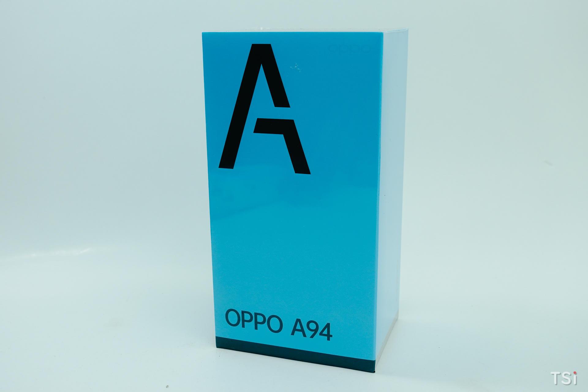 Mở hộp OPPO A94: mặt lưng màu tím huyền ảo, long lanh