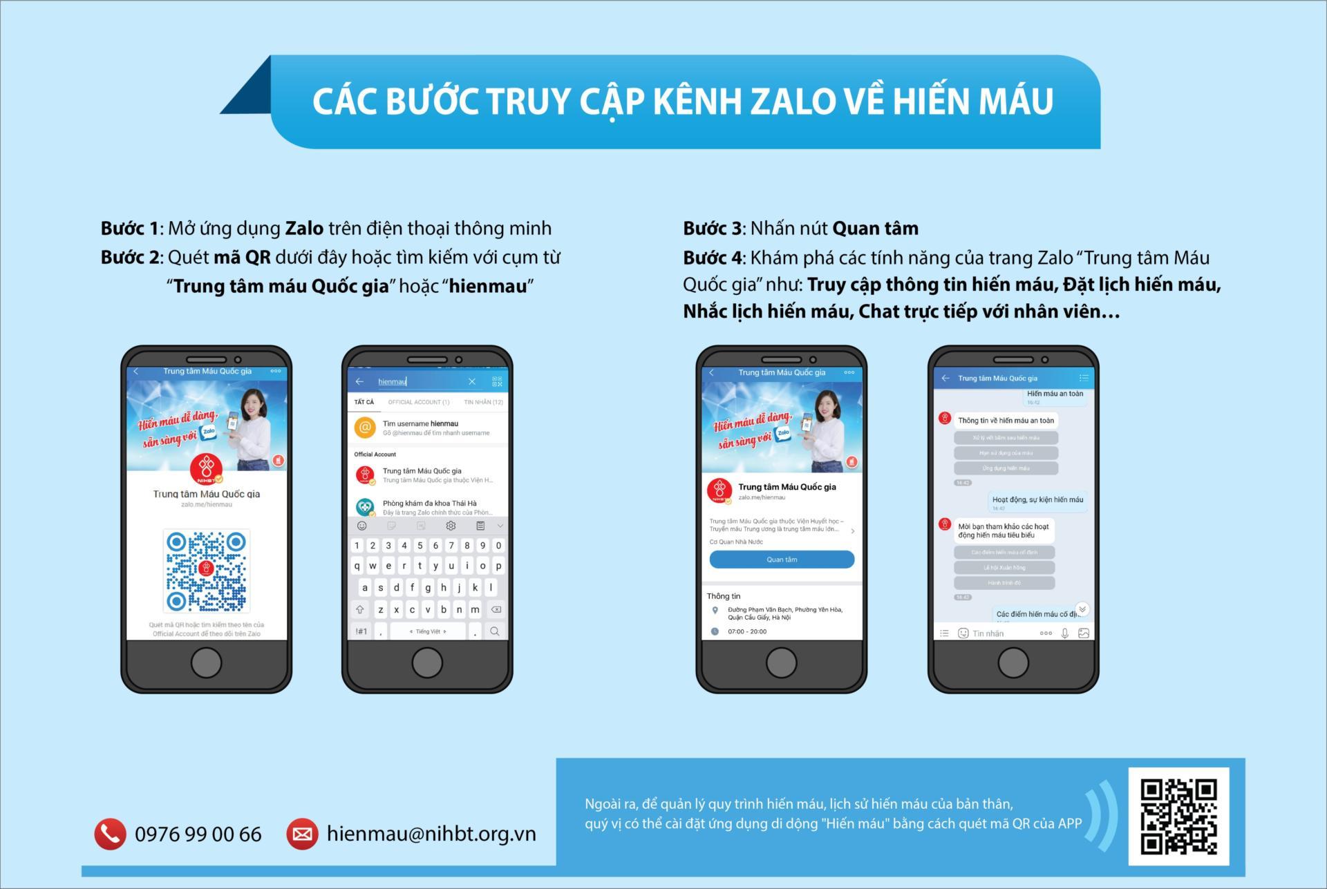 Zalo triển khai ứng dụng CNTT trong hoạt động hiến máu tình nguyện