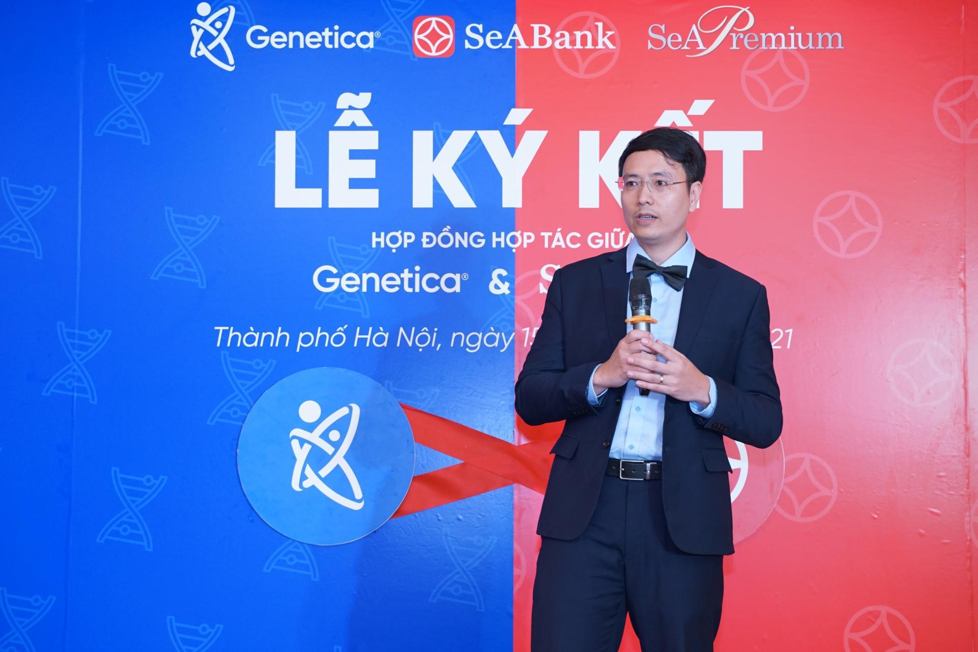 Hợp tác SeABank, Genetica tiên phong cung cấp dịch vụ giải mã gen qua hệ thống ngân hàng