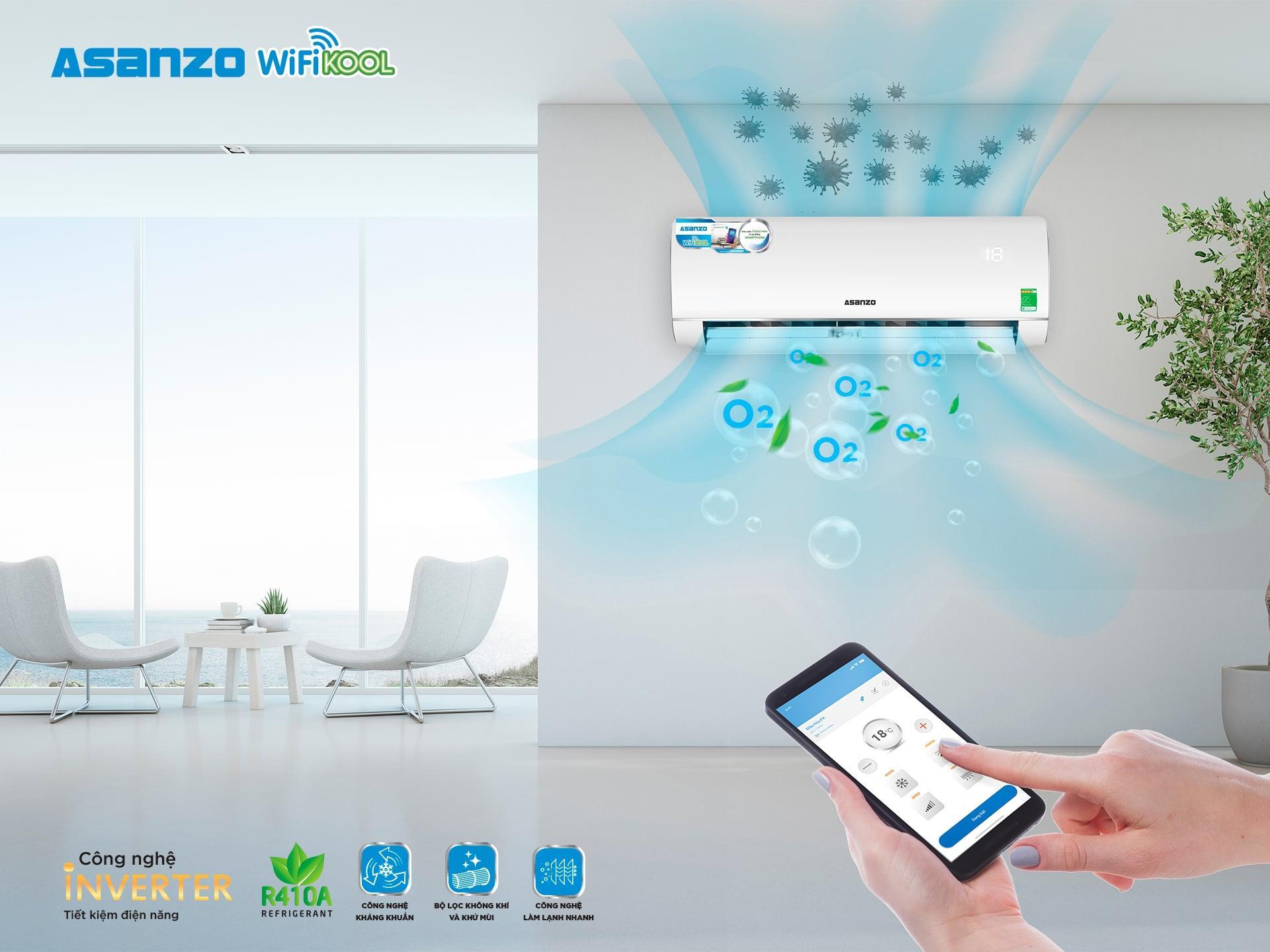 Asanzo ra mắt điều hòa WifiKool dùng nền tảng smarthome ASG Home