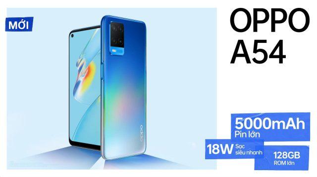 OPPO A54 ra mắt, pin 5000mAh, sạc siêu nhanh 18W