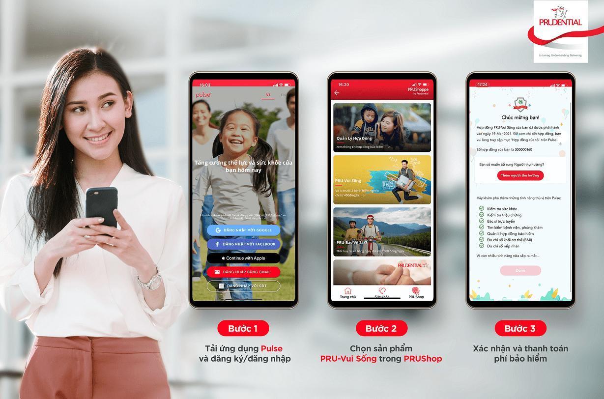 Prudential ra mắt giải pháp bảo hiểm trực tuyến 'PRU-vui sống'