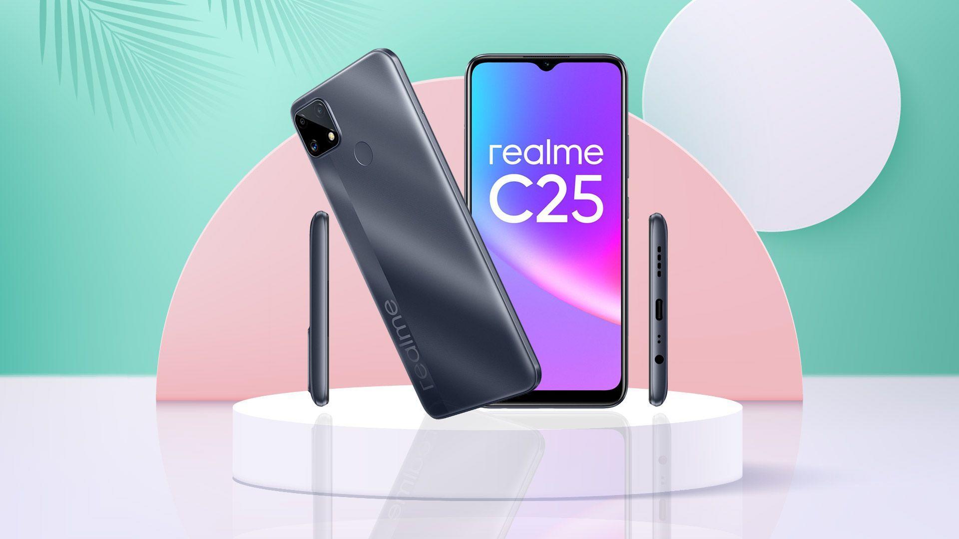 Realme C25 giá 4,69 triệu, lên kệ từ 17/4 với ưu đãi 300.000VND