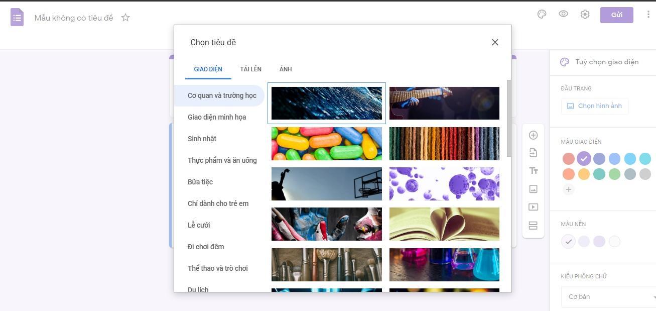 Tạo biểu mẫu Google Forms đẹp mắt chỉ với 7 bước đơn giản