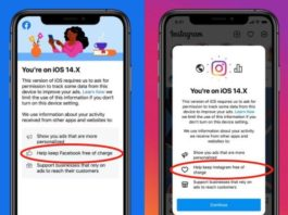 Facebook và Instagram gây áp lực với người dùng iOS 14.5