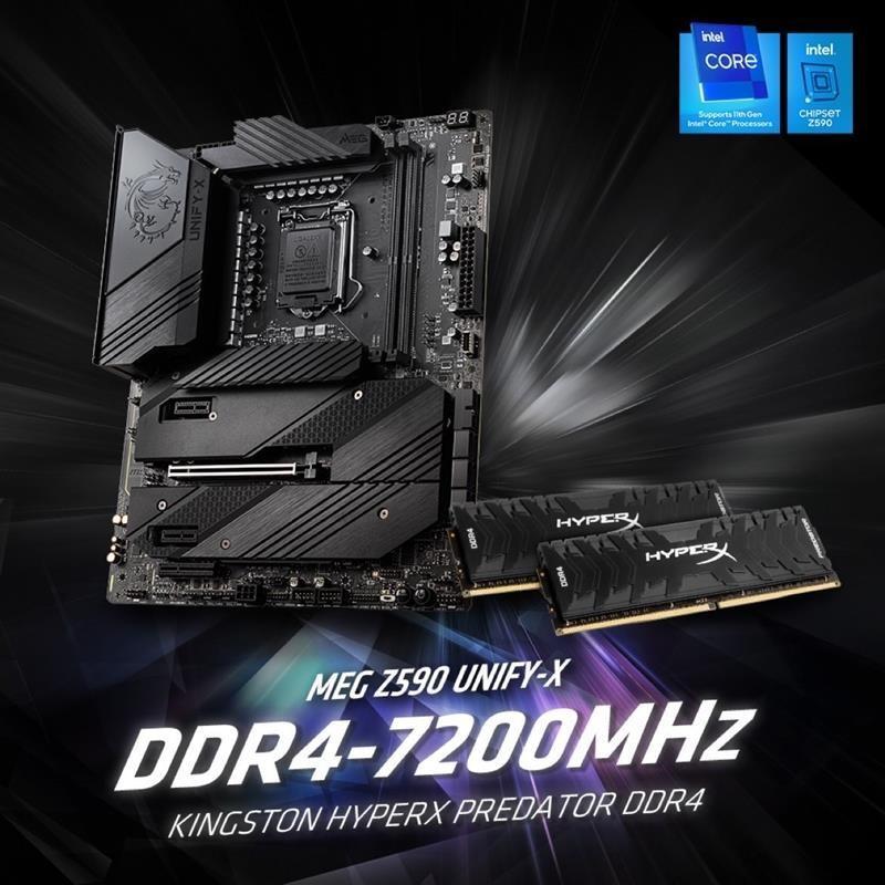 Kingston HyperX và MSI lập kỷ lục thế giới về ép xung DDR4 với tốc độ lên đến 7200MHz