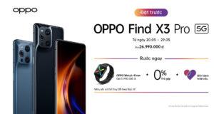 Flagship OPPO Find X3 Pro 5G mở bán ngày 30.5, giá 27 triệu đồng