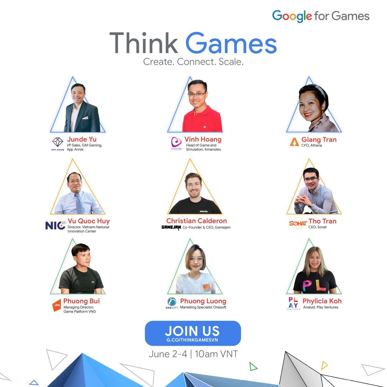 Google Think Games Vietnam 2021 diễn ra từ 2-4.6