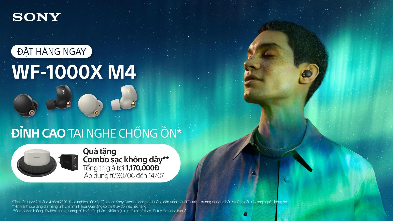Sony WF-1000XM4 chính thức bán ra giá 6,5 triệu