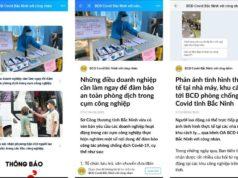Gần 13.000 công nhân Bắc Ninh theo dõi trang Zalo chống dịch Covid-19
