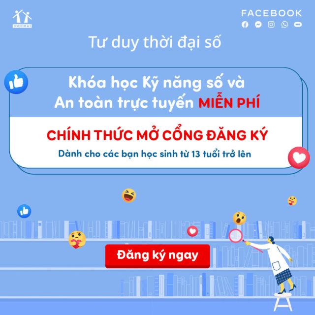 Facebook và hocmai triển khai chương trình học trực tuyến miễn phí 'Tư duy thời đại số' năm thứ 2