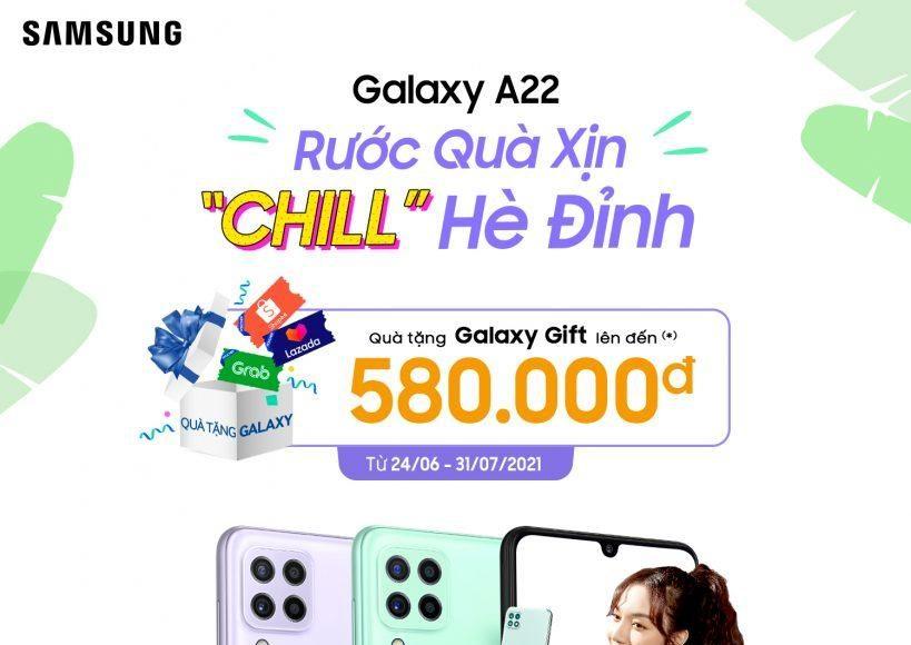 Samsung Galaxy A22 lên kệ, giá từ 5,9 triệu