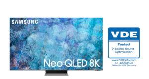 TV Samsung Neo QLED đạt chứng nhận 'Spatial Sound Optimization' từ VDE