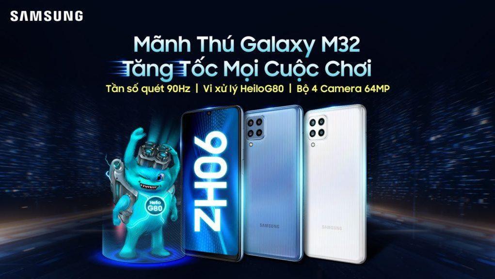 Samsung Galaxy M32 giá 6,3 triệu, bán trên Lazada từ 15.7