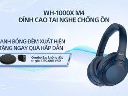 Tai nghe chống ồn Sony WH-1000XM4 phiên bản xanh bóng đêm