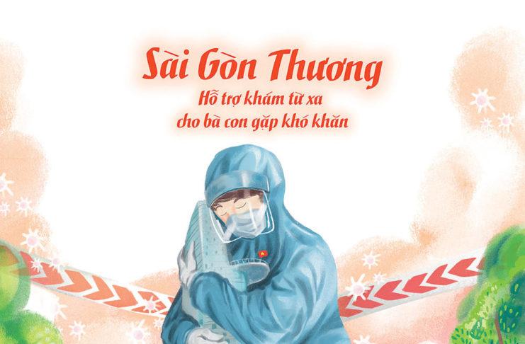 Chương trình thiện nguyện 'Sài Gòn thương' hỗ trợ khám từ xa cho bà con gặp khó khăn