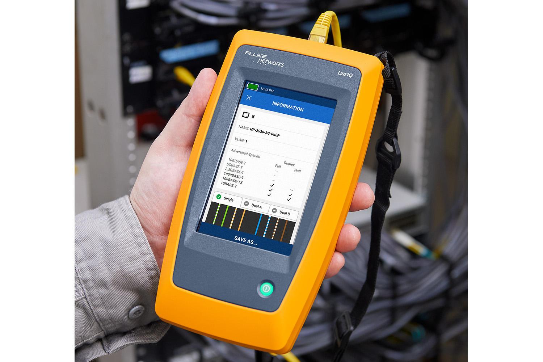 Fluke Networks giới thiệu kit kiểm tra cáp mạng Ethernet công nghiệp cao cấp LinkIQ