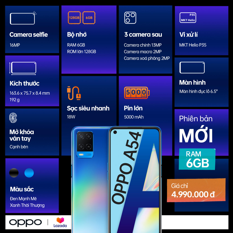 OPPO A54 và tai nghe Enco Buds chính thức ra mắt