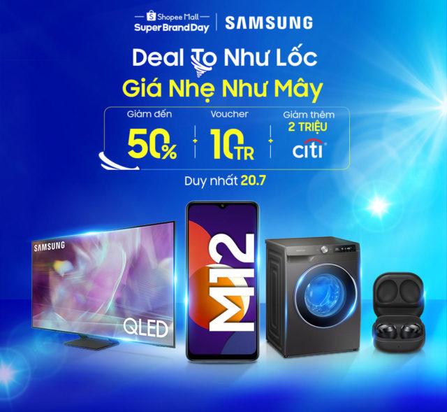 Samsung ưu đãi lớn trên Shopee từ hôm nay