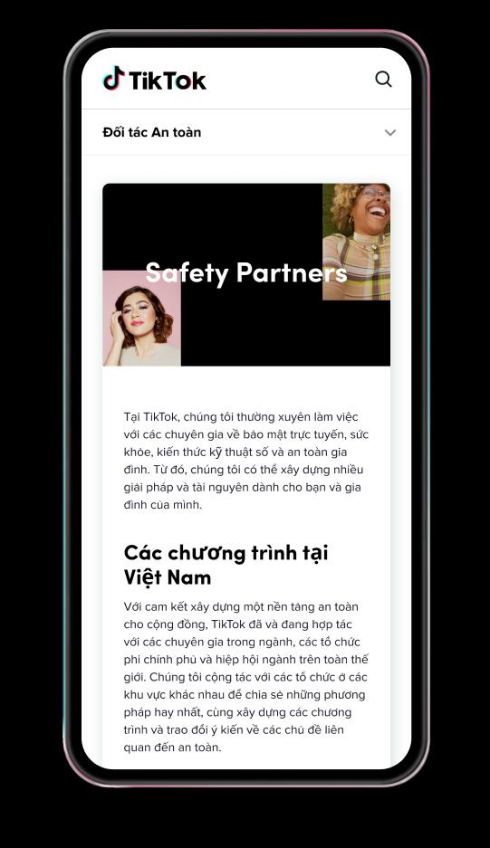 TikTok cập nhật nguồn tài nguyên an toàn cho các gia đình