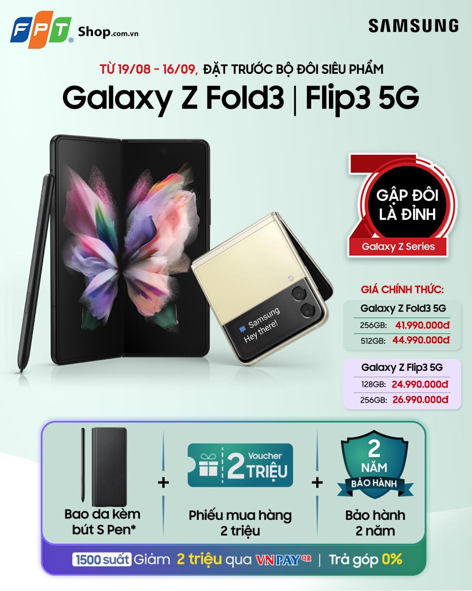 FPT Shop tiếp tục tặng những ưu đãi thiết thực cho khách hàng đặt trước Galaxy Z Fold3 | Flip3 5G