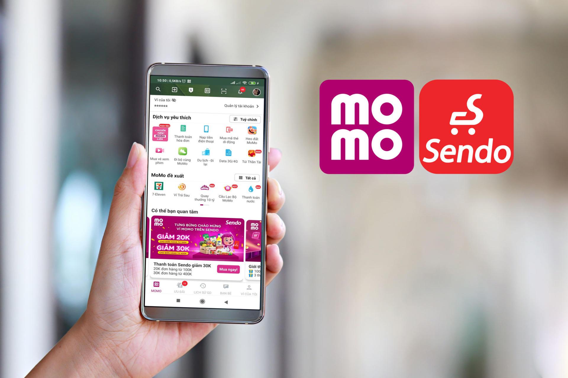 Đã có thể thanh toán mua hàng trên Sendo bằng Ví MoMo