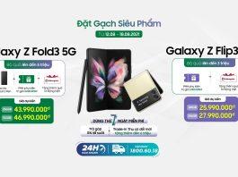 Di Động Việt mở đặt gạch Galaxy Z Fold3 và Z Flip3, tặng bộ quà đến 7 triệu