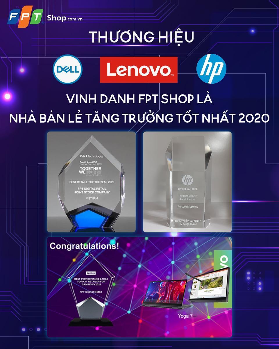 FPT Shop trở thành 'nhà bán lẻ tăng trưởng tốt nhất' của Dell, HP và Lenovo