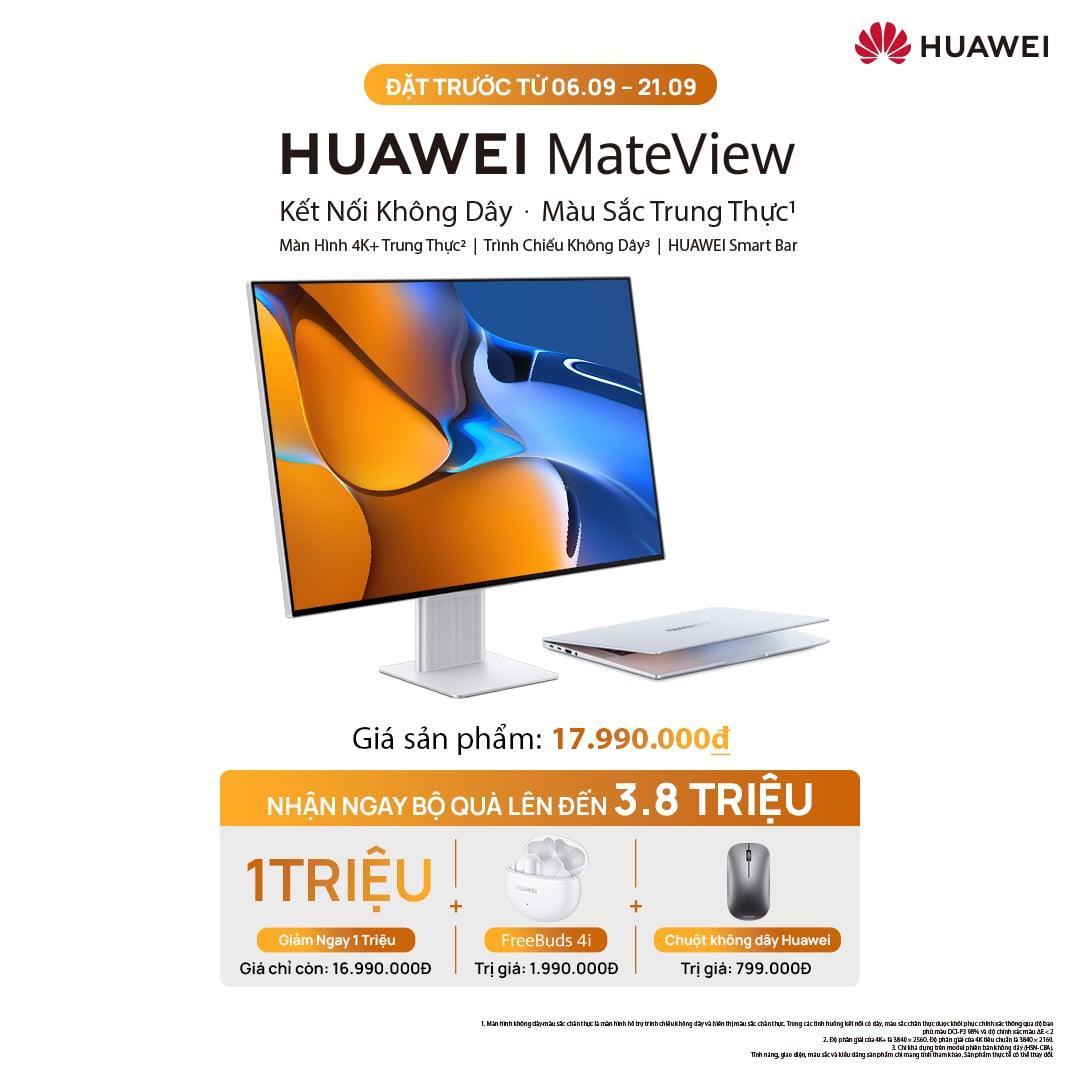 Ra mắt màn hình độc lập Huawei Mateview, giá 17,99 triệu đồng