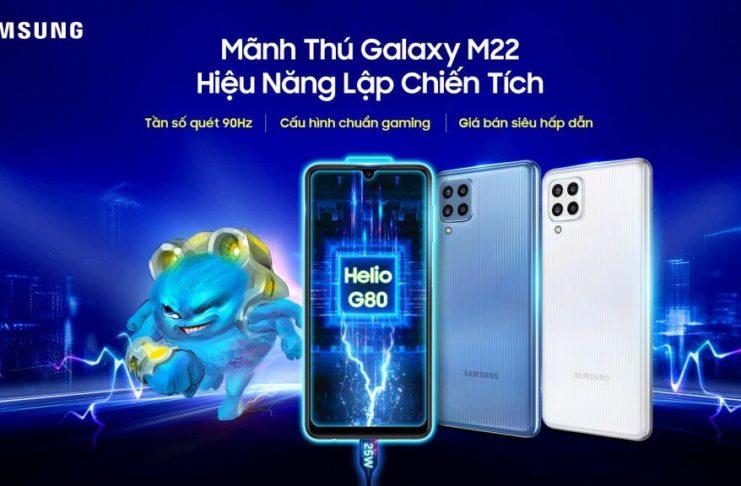 Samsung lên kệ Galaxy M22, giá từ 4,8 triệu đồng
