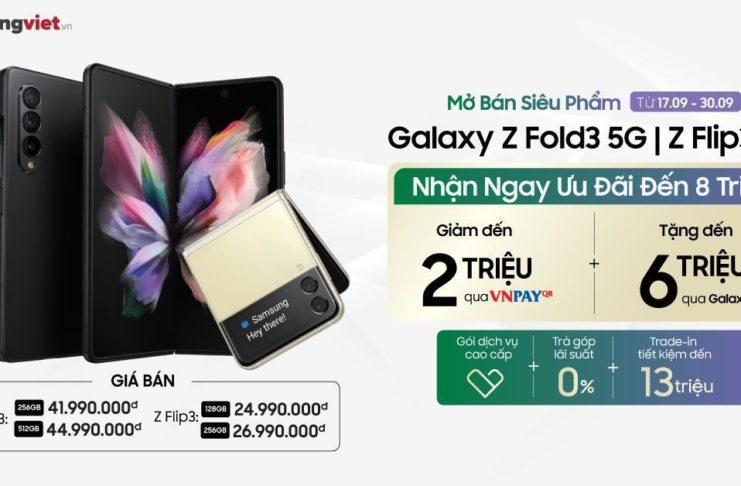 Di Động Việt giao hơn 300 máy Galaxy Z Fold3 5G & Z Flip3 5G trong ngày mở bán