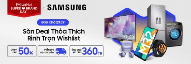 Samsung khởi động Ngày Hội Siêu Thương Hiệu năm 2021 trên Lazada
