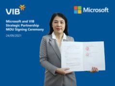 VIB hợp tác Microsoft tạo bứt phá tốc độ dịch vụ và đổi mới sáng tạo