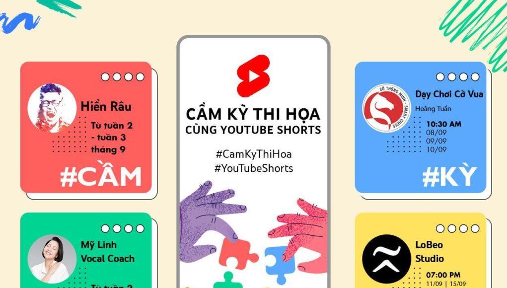Luyện 'tứ nghệ' cầm-kỳ-thi-họa cùng Youtube Shorts
