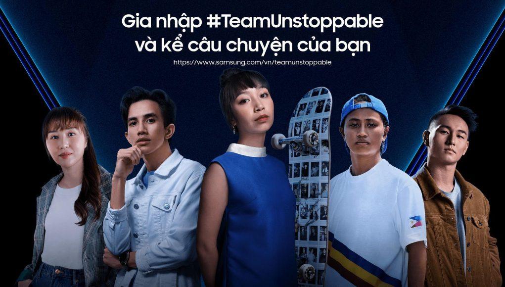 Samsung triển khai chiến dịch #Team Unstoppable toàn khu vực Đông Nam Á nhằm khuyến khích giới trẻ làm điều không thể