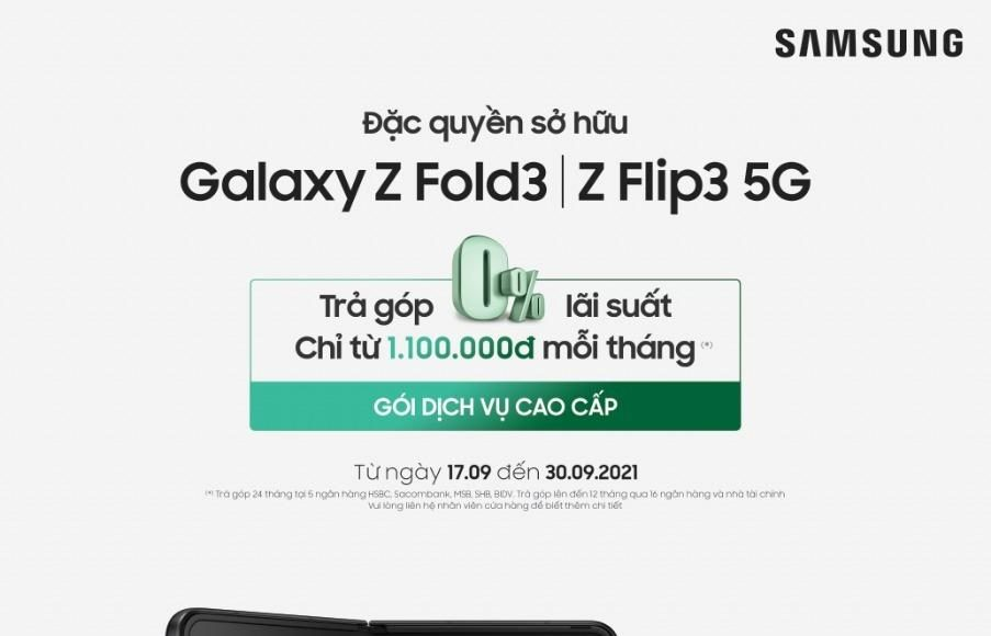 Hôm nay Samsung giao hàng Galaxy Z Fold3 và Z Flip3 5G