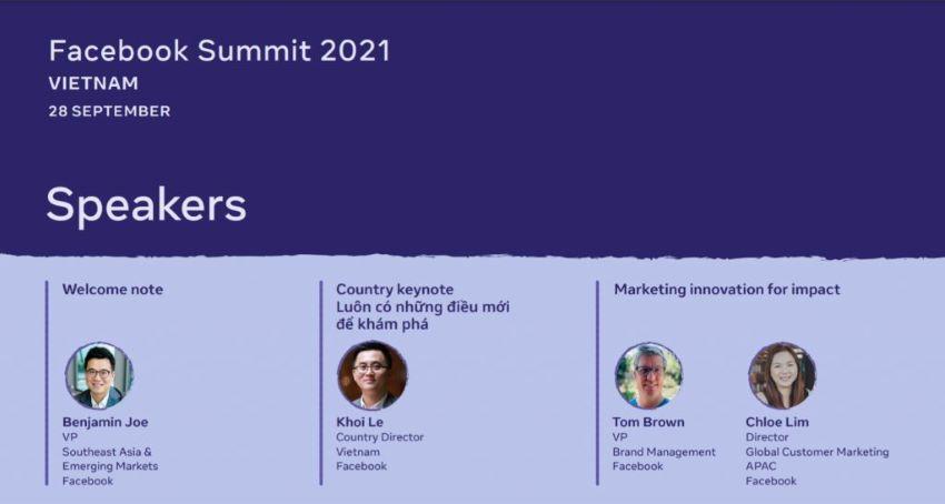 Sắp diễn ra sự kiện Facebook Summit 2021